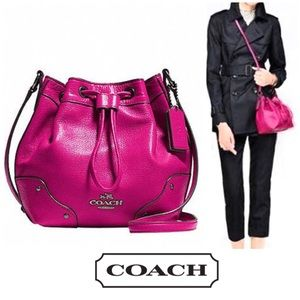 Coach Mickie Drawstring Bucket Cross Body Bag